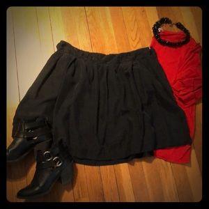 Black, silk J. Crew skirt